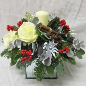 Christmas Cube Flower Arrangement