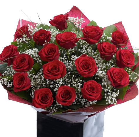 Scrumptious 18 Red Roses bouquet for Chelmsford