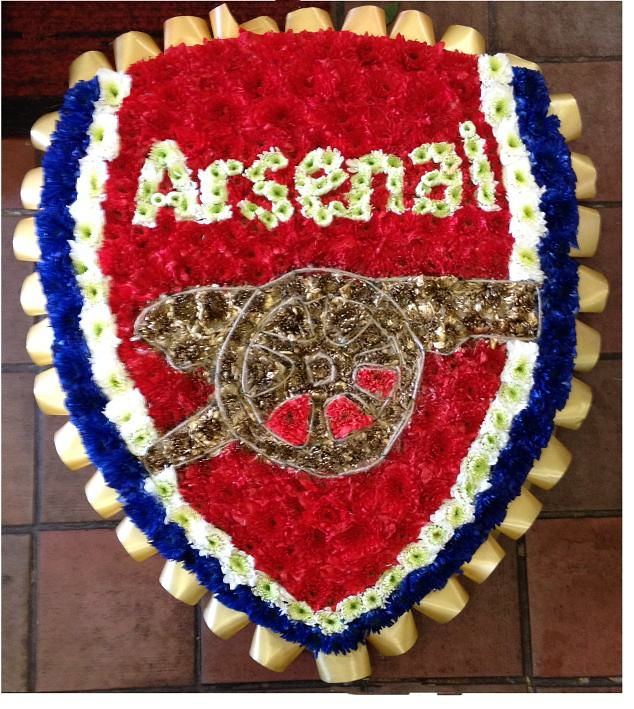 Arsenal Shield Funeral Tribute Flowers For Football