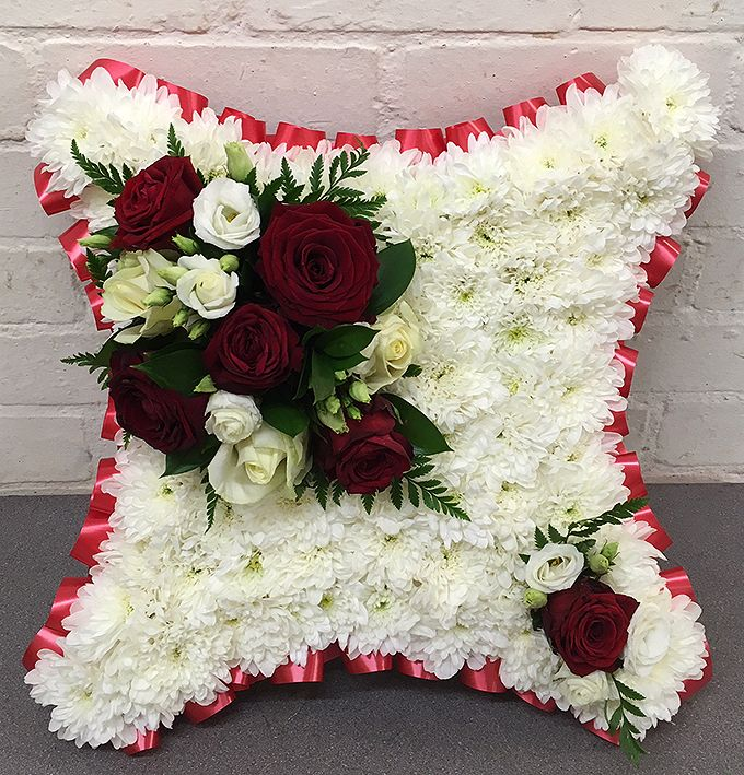 Based Red Funeral Cushion