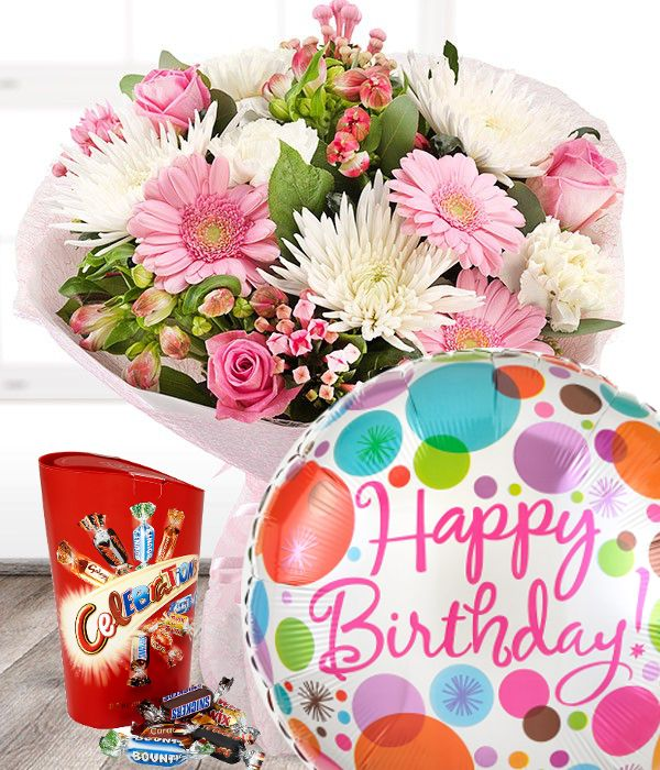 Birthday Flowers Set