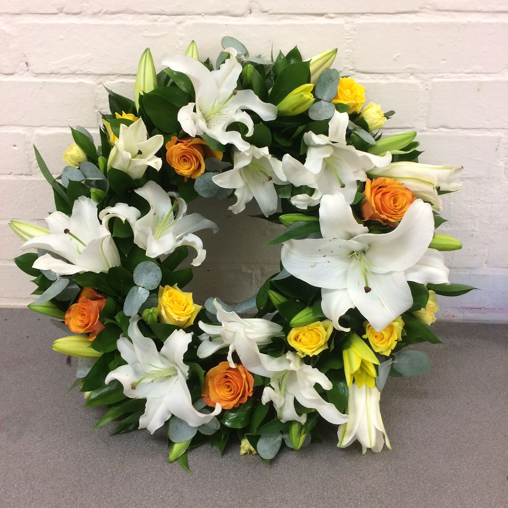 Bright lily funeral wreathessex floristsblossom florists in witham bright lily funeral wreathessex floristsblossom florists in witham and braintree and chelmsford izmirmasajfo