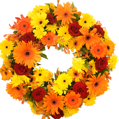 Bright Open Funeral Wreath