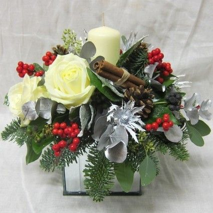 Christmas Flower Arrangements.Christmas Flowers Arrangement