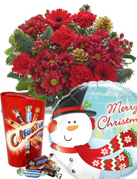 Christmas flowers gift set|Essex Florist with free delivery