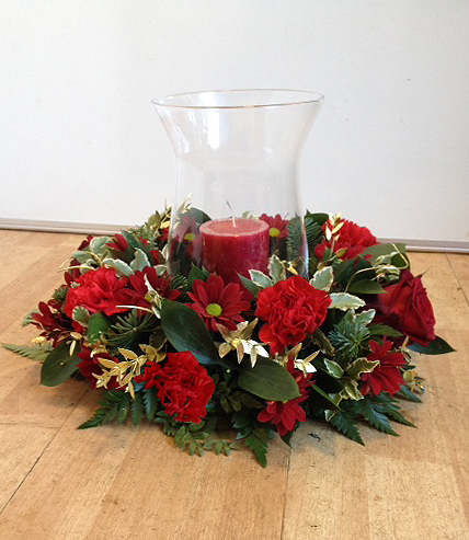 Christmas Wreath Vase