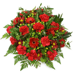 Lovely Red Funeral Posy
