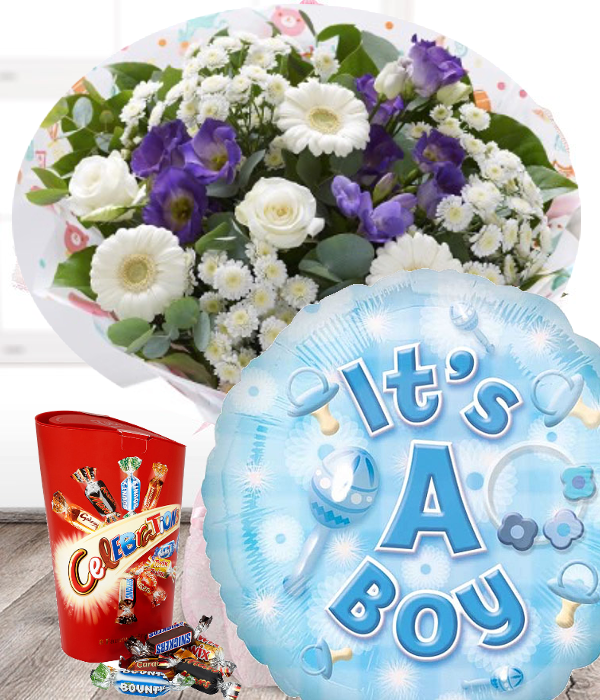 New Baby Boy Flowers Set