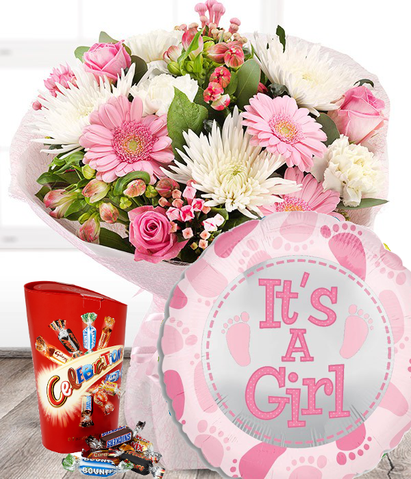 New Baby Girl Flowers Set