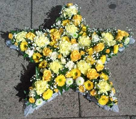 Open Funeral Star Tribute Blossom Florists Funeral Flowers
