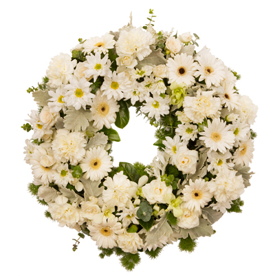 Open Funeral Wreath