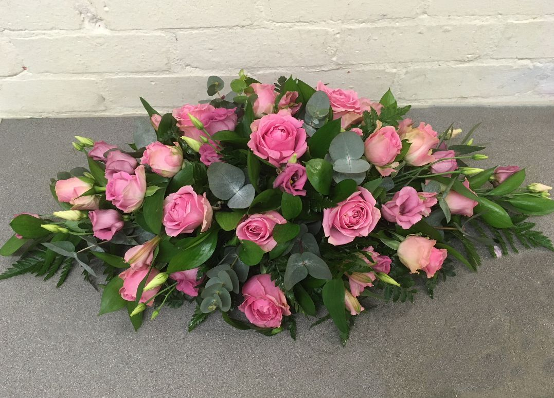 A Pink Double Ended Funeral Sprayblossom Florists For Stunning