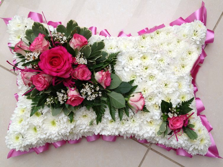 Pink Funeral Pillow