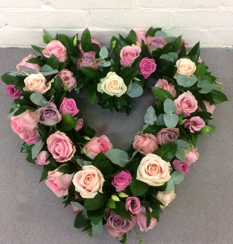 Pink rose funeral heartblossom florists beautiful funeral flowers pink rose funeral heartblossom florists beautiful funeral flowers and heart tributes for delivery to chelmsford and braintree and witham areas in essex mightylinksfo