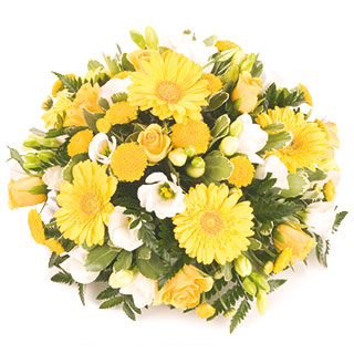 Pretty Yellow Funeral Posy