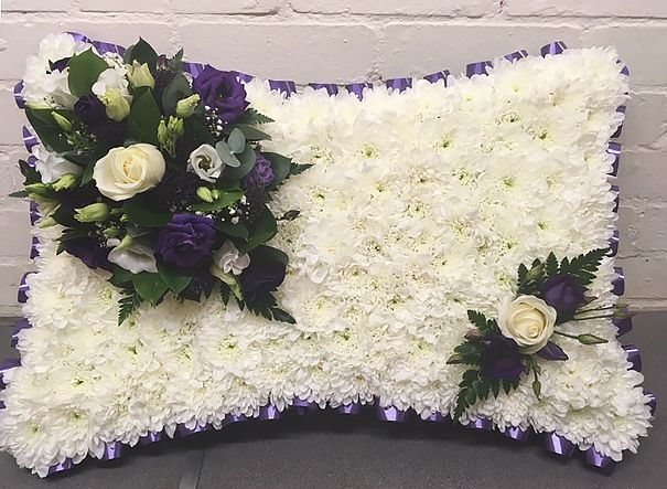 Purple Funeral Pillow
