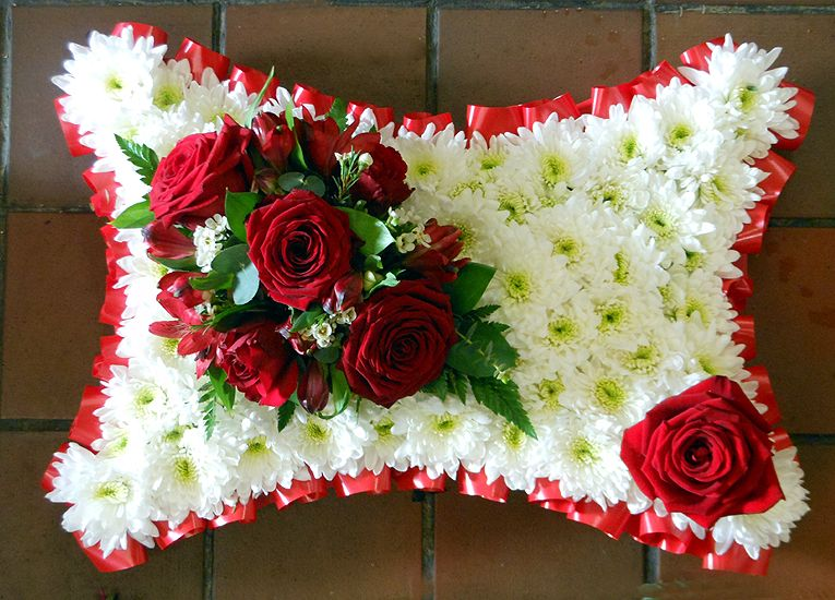Red Funeral Pillow