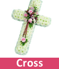 Funeral Anchor and crosses flowers for Essex delivery