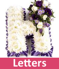 Funeral letters and flowers