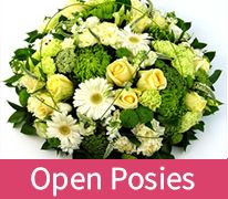 Open Funeral Flowers Posy comprises a variety of flowers and can be delivered to Chelmsford or Witham or Braintree in Essex